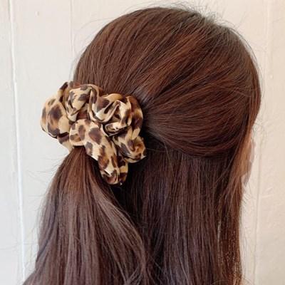 [1+1] [2color] 분위기 레오파드 호피 슈슈 곱창 머리끈 세트