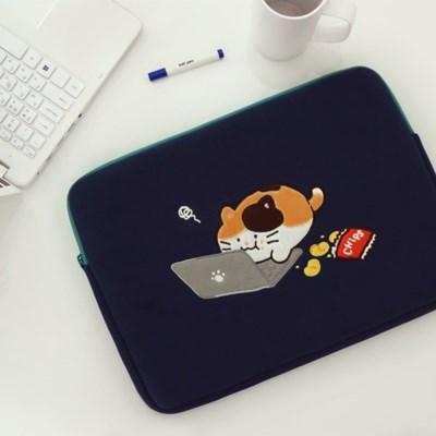 모찌타운 까망 고양이 노트북 파우치 - 15인치