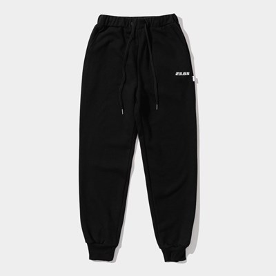 23.65 BASIC COTTON PANTS BLACK