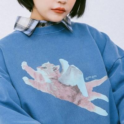 PIGMENT CATPID SWEATSHIRT BLUE