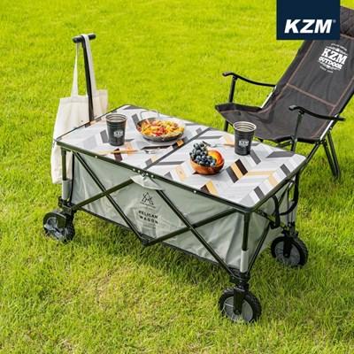 카즈미 웨건 테이블 K20T3U016 / 접이식 웨건 상판 캠핑 테이블