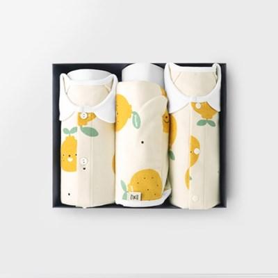 [메르베] 라봉이 아기 백일선물세트(내의+실내우주복+모_(1520185)