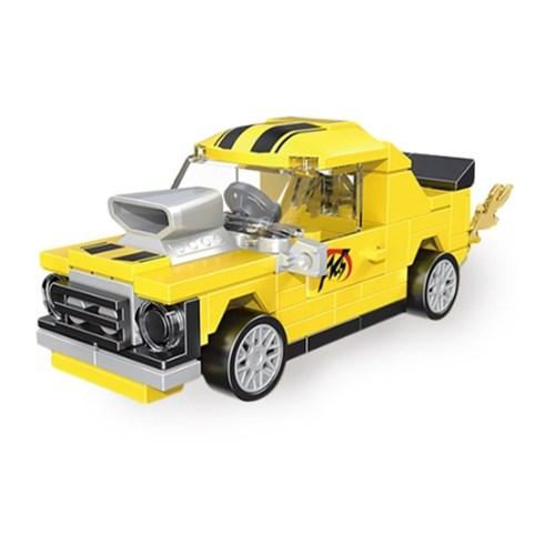 미니풀백 자동차타입B-4 옐로우 미니 블럭