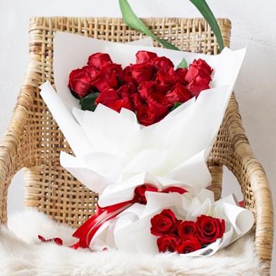 레드 장미 꽃다발