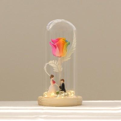 레인보우 장미 무드등