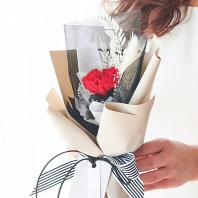 카네이션 한송이 꽃다발 (2color)
