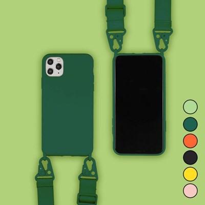 아이폰SE2 캔디 컬러 스트랩 커버 젤리 케이스 P035_(3258746)