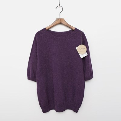 Maille Alpaca Wool Sweater - 반팔