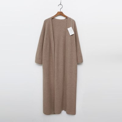 Maille Cashmere N Wool Shawl Long Cardigan - 9부소매