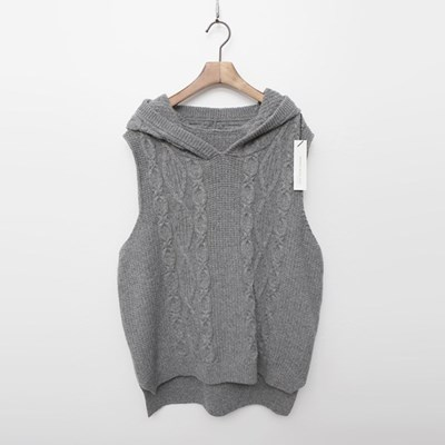 Merino Wool Hooded Vest