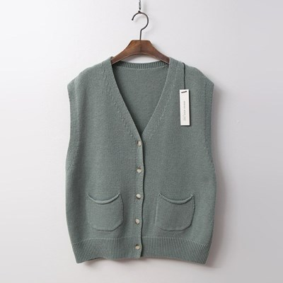 Merino Wool Button Vest