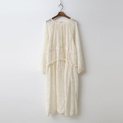 Angel Puff Long Dress - 슬립포함