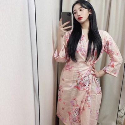 벚꽃 유카타 고양이 잠옷