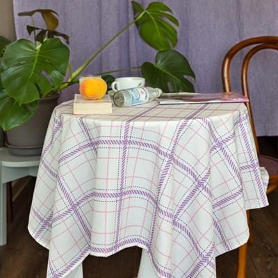 쉐어화이트퍼플 식탁보 테이블보 2size 테이블러너