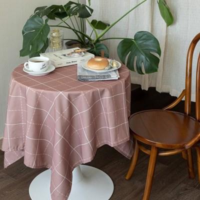 쉐어브릭로즈체크 식탁보 테이블보 2size 테이블러너