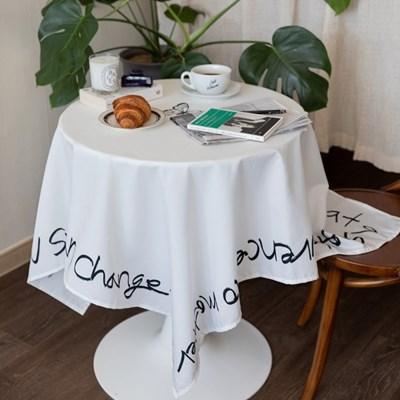 쉐어레터링프레임 식탁보 테이블보 2size 테이블러너
