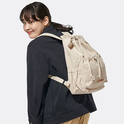 STRING BACKPACK CANVAS 702 13 WHITE