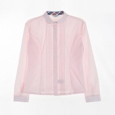 [교복아울렛] 핑크 둥근카라 긴팔 셔츠 (대진고) 교복_(1736434)