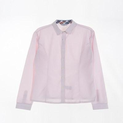 [교복아울렛] 각카라 핑크 여자 동복 블라우스 교복_(1736439)