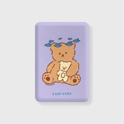 blue bird bear-purple(무선충전보조배터리)_(1660151)