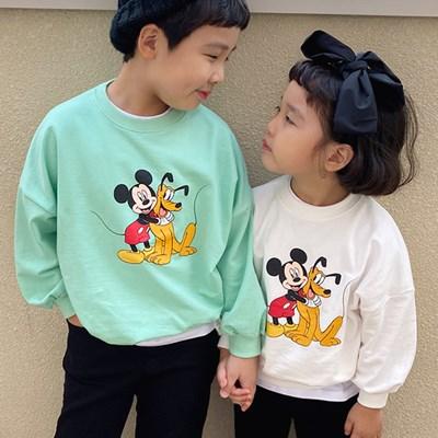 세) [디즈니정품]브이미키단가라 아동 맨투맨-주니어까지