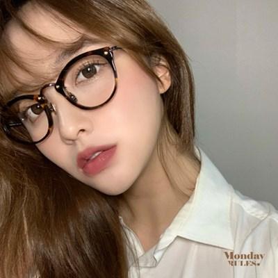 [먼데이룰즈] 국산 뿔테 콤비테 블루라이트 차단 남녀공용 안경