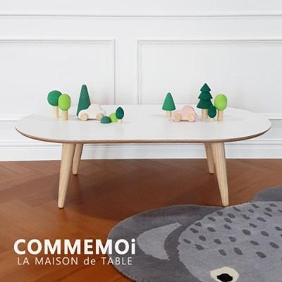 [꼬메모이] 라메종 입식 테이블 의자 세트 / 유아 자작나무 가구
