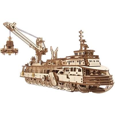 575피스 목재 입체퍼즐 - 해양 탐사선