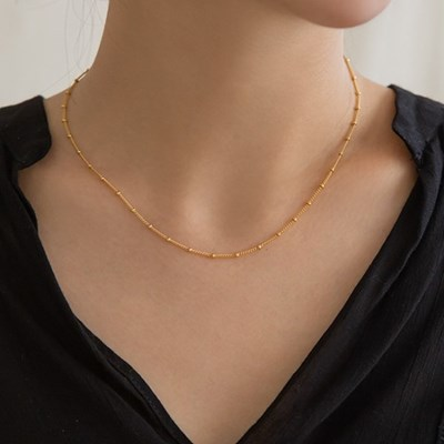 14k gf ball chain necklace (14k 골드필드)