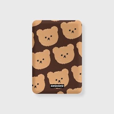 Dot big bear-brown(무선충전보조배터리)_(1660112)