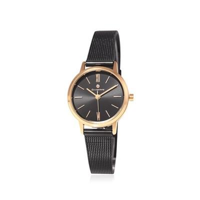[Timepieces]세련된로즈골드블랙라인 여성메쉬시계 OTC220T01TPB
