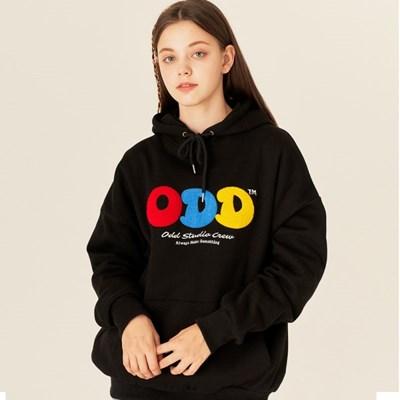 [스티커팩증정] 오드스튜디오 부클 비숑 후드 티셔츠- BLACK