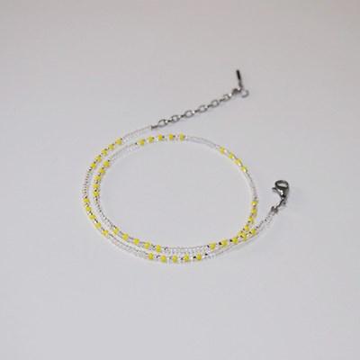 lemon_trp_neck 심플유니크 레몬 비즈목걸이