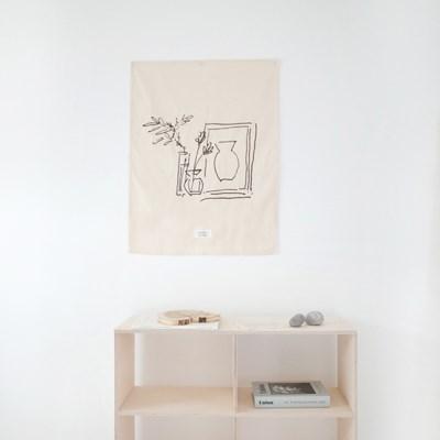 Calm fabric poster