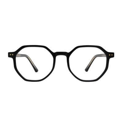 Psyche BLACK 다각 뿔테 안경