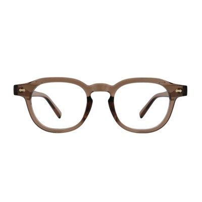 Swell BROWN CRYSTAL 스퀘어 투명 뿔테 안경