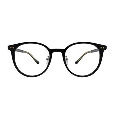 Xiu BLACK 라운드 뿔테 안경