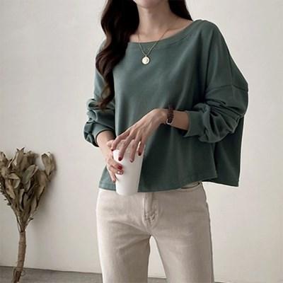 여자 캐주얼 기본핏 긴팔 맨투맨 가을 티셔츠