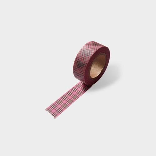 Pink Check Masking Tape