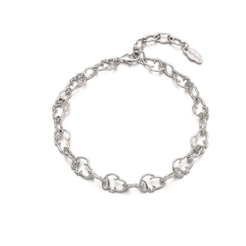 [로이드x스누피] 클라우드 실루엣 패턴 Silver 팔찌 LLBS20T02NSS
