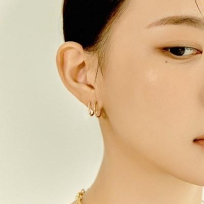 Double Ring CZ Earrings (925 Silver) Capsule.02