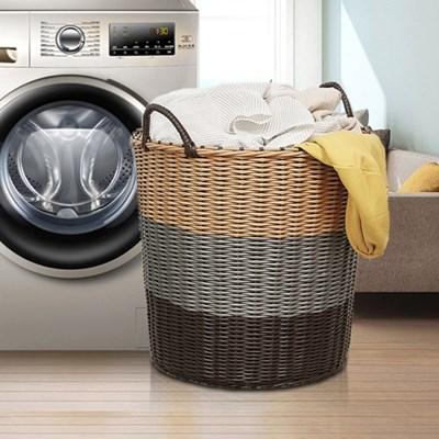 PH 세탁 빨래 바구니 라탄 타입