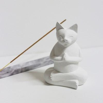 나마스테 석고오너먼트 요가고양이 석고방향제