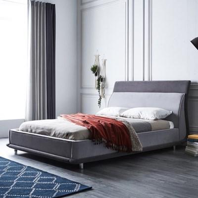 [스코나]로건빌 초극세사 곡선형 침대(Q)(매트 별도)_(602817453)