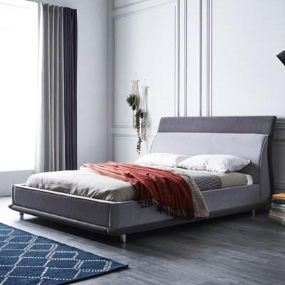 [스코나]로건빌 초극세사 곡선형 침대(SK)(매트 별도)_(602817452)