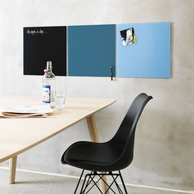 NAGA 자석 글라스보드 45x45 / 디자인 유리 화이트 보드 / 블루계열