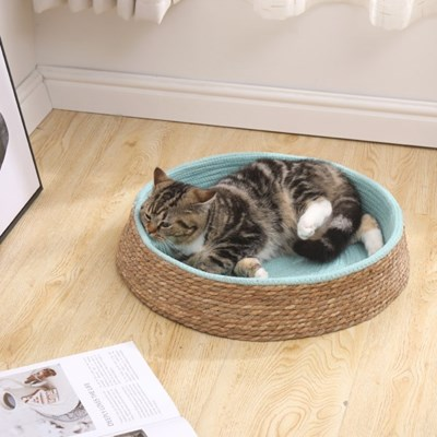 고양이 스트레스 해소 평판 스크래쳐 원형 방석 매트