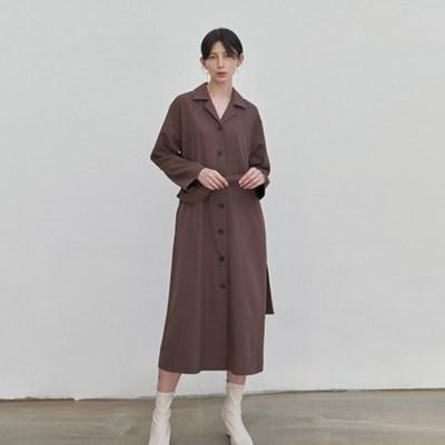 LUSH TRENCH COAT DRESS_BROWN