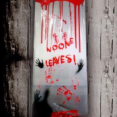 할로윈 공포 현수막 포스터 200cm (NO ONE LEAVES)_(301828011)