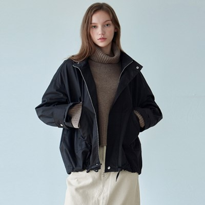 FLAP CROP FIELD JACKET_BLACK